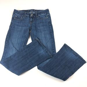 American Eagle Jeans Denim Artist Fit Flare Sz 2S